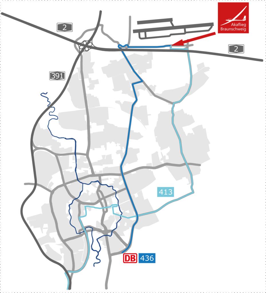 Anfahrtskarte Braunschweig